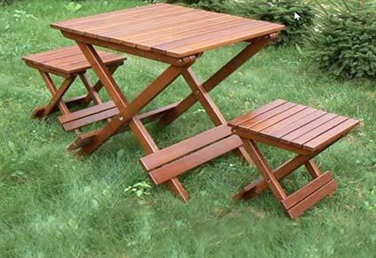 چوب ترمووود - کاربرد در تولید مبلمان و میز و صندلی فضای باز