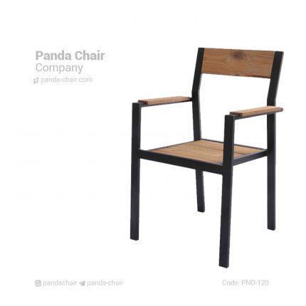 صندلی دسته دار فضای باز ترمو وود - چوب ترمو حرارت دیده