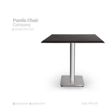 میز رستورانی پایه چدنی مربع - میز فلزی - میز - میز فلزی رستورانی - میز تالاری - میز ناهارخوری - میز غذاخوری - میز آشپزخانه