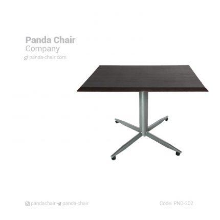 میز رستوران فلزی مربع - میز تالاری - میز ناهارخوری مربع - میز رستورانی مربع - میز هتلی مربع
