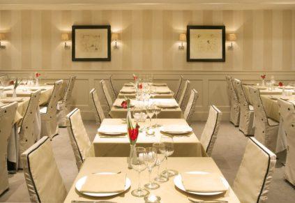 ابعاد میز و صندلی ناهارخوری - اندازه های استاندارد میز و صندلی ناهارخوری رستوران و تالار - اندازه استاندارد میزهای رستورانی و تالاری