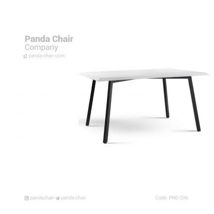 میز ناهارخوری مربع صفحه وکیوم - میز پایه فلزی صفحه ام دی اف MDF - dining table